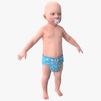 3d model of baby