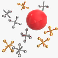 ball jacks set 3d model