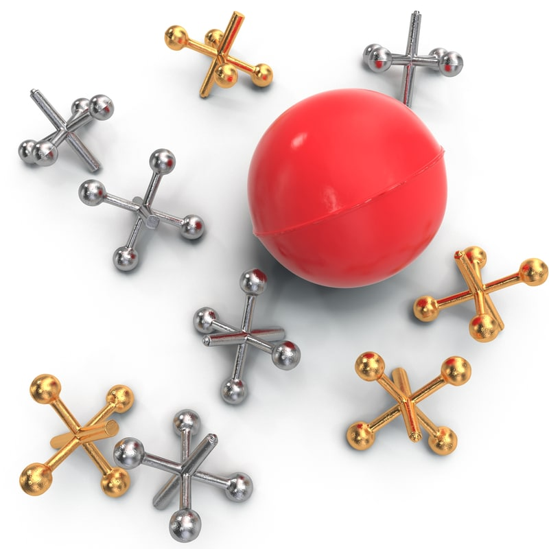 ball jacks set 3d model