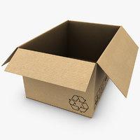 cardboard box open 3d max