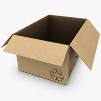 cardboard box open max