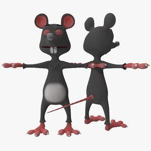 3d model cartoon rat