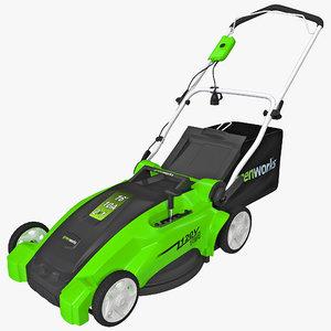 c4d corded lawn mower greenworks