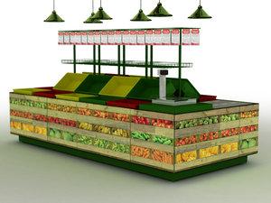 fruit rack stand 3d model
