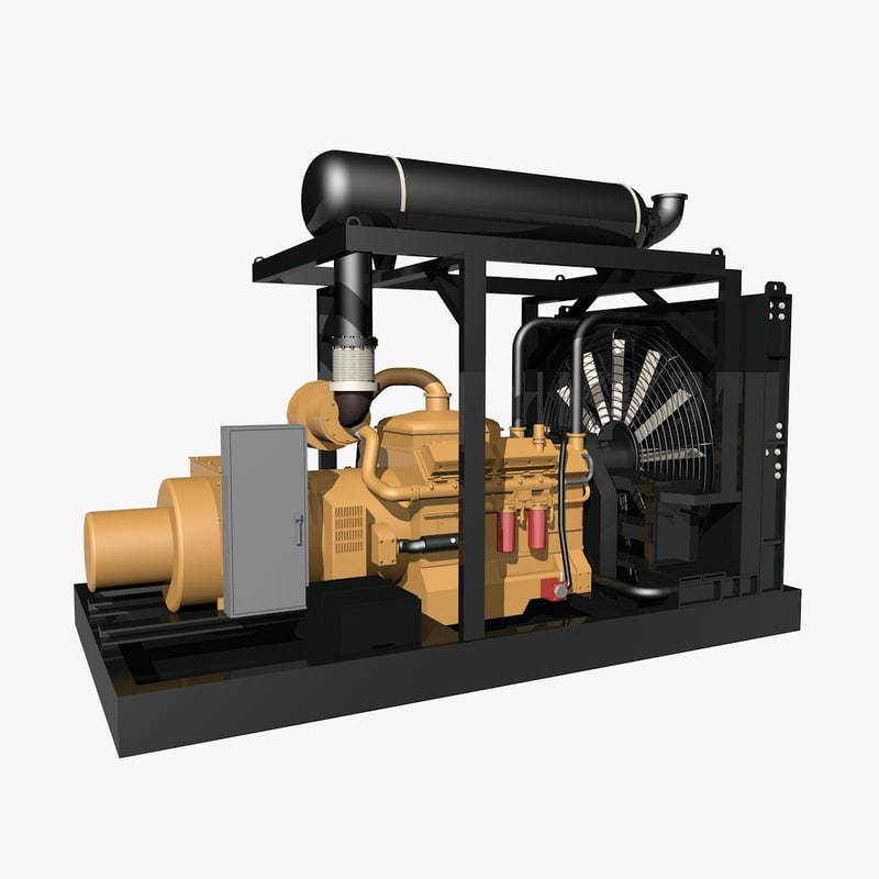 natural gas generator 3d obj