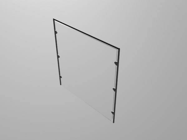 glass panelled wall 3ds