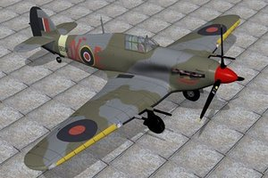 c4d hawker hurricane fighter