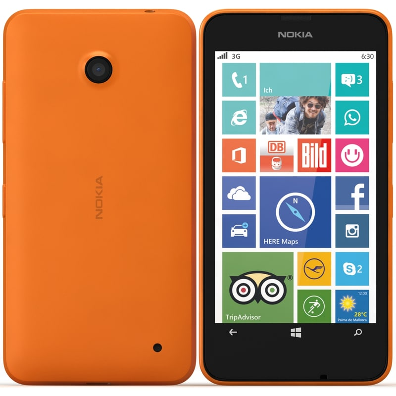 3d nokia lumia 630 orange