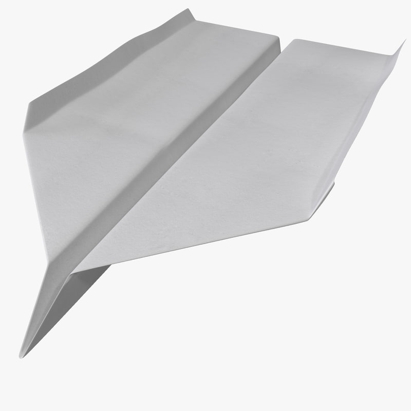 paper airplane 2 3d model