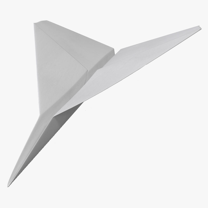 paper airplane c4d