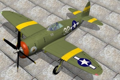 fighters p47d p47 razorback 3d model