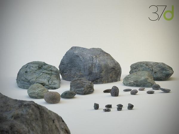 3dsmax rocks stones photorealistic