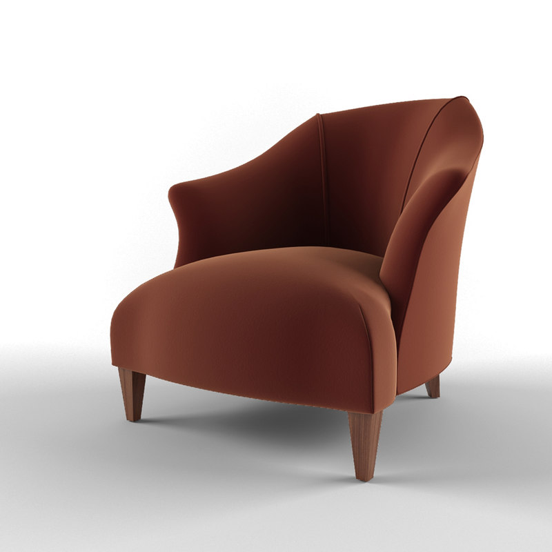 donghia shell chair item 3d max