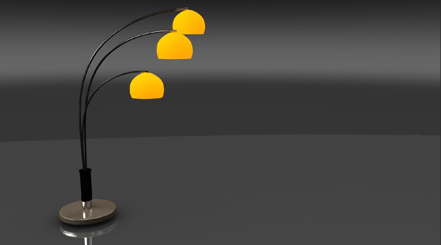 floor lamp orange marble obj