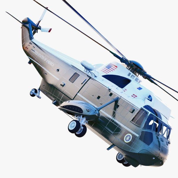 sikorsky marine corps vh-3 3d max