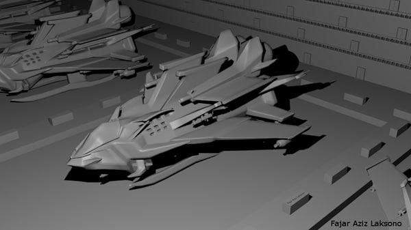 3d model sci fi spaceship