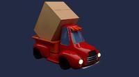 3d model truck cartoon