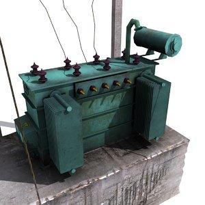 3d electricity transformer model