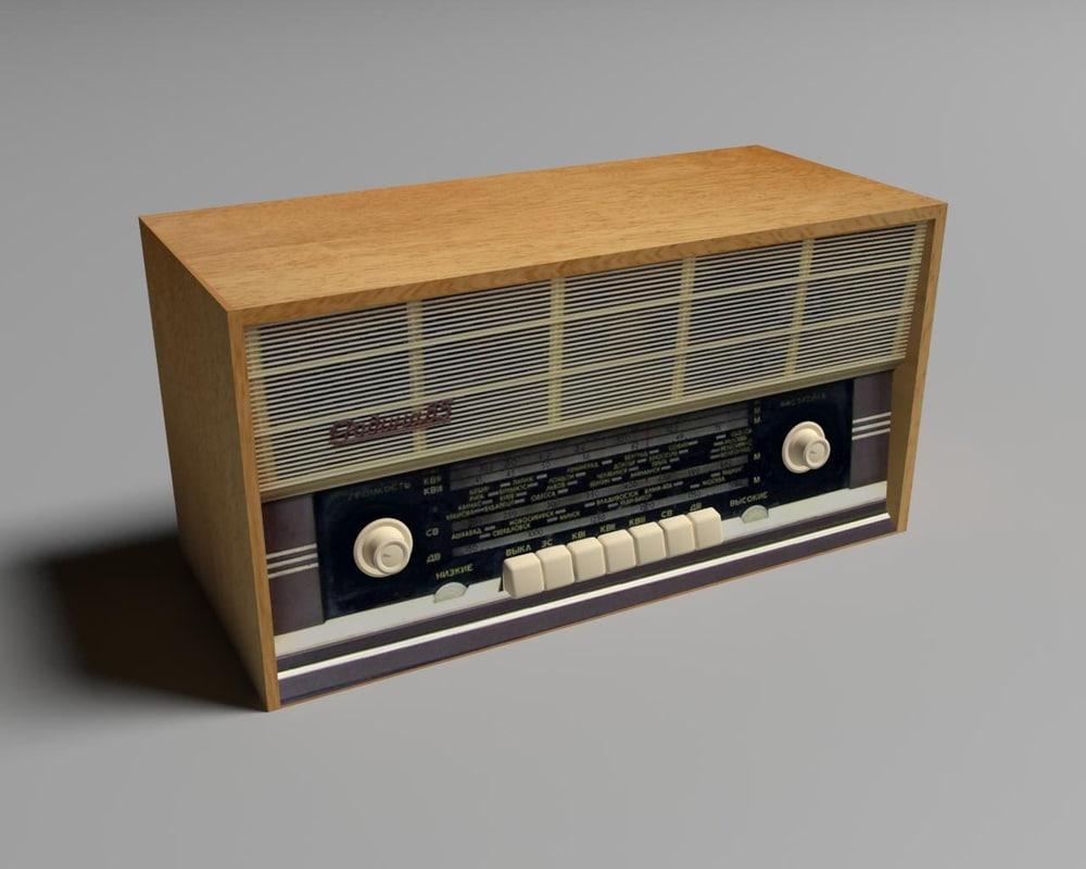 3d old ussr radio rodina model