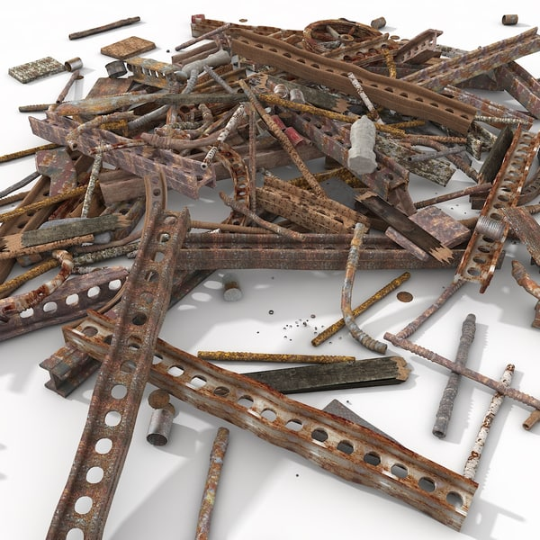 debris metal junk 3d model