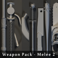weapons pack - melee 3d obj
