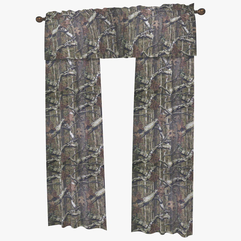 3dsmax window curtain mossy oak