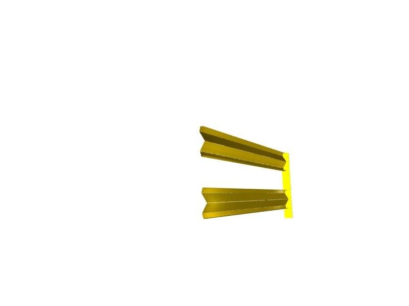 3dsmax yellow guard rail