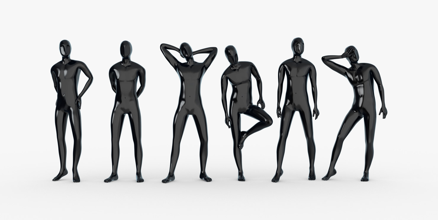 male mannequins 3d model
