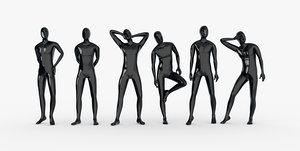 male mannequins 3d model