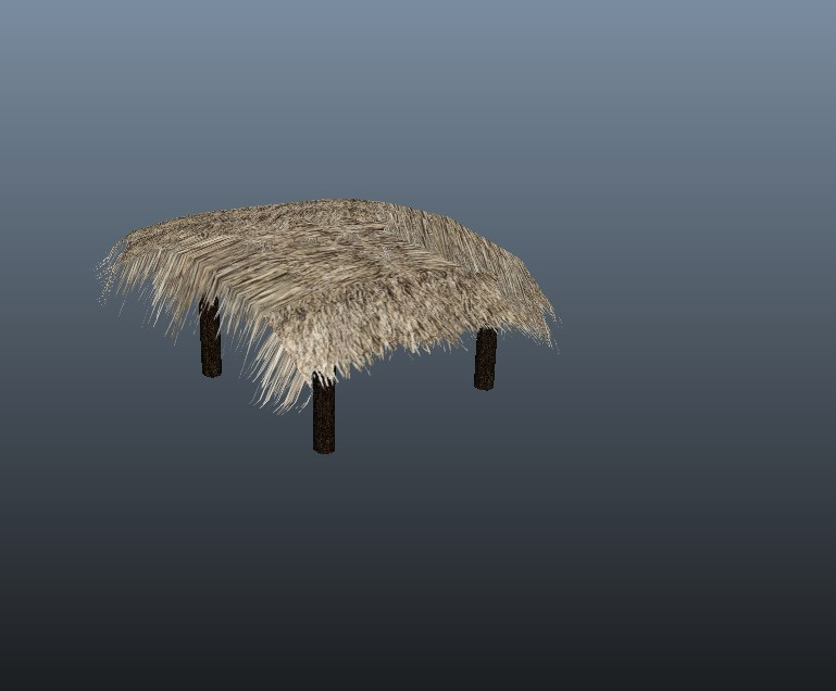 3d hay shade cover model