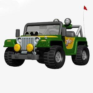 3dsmax toy jeep