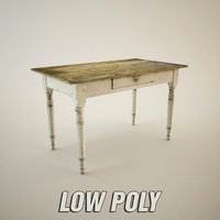 Low Poly Old Table