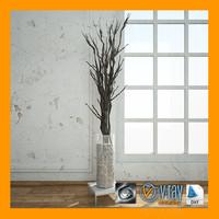 3ds max living room decoration vase