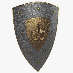 medieval shield 3d 3ds