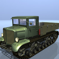 heavy tractor voroshilovets 3d model
