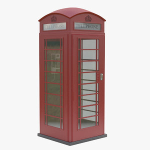 red telephone box 3d 3ds