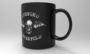 3ds max avenged sevenfold mug avanged