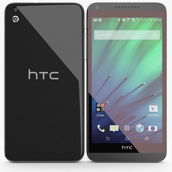 3d htc desire 816 black