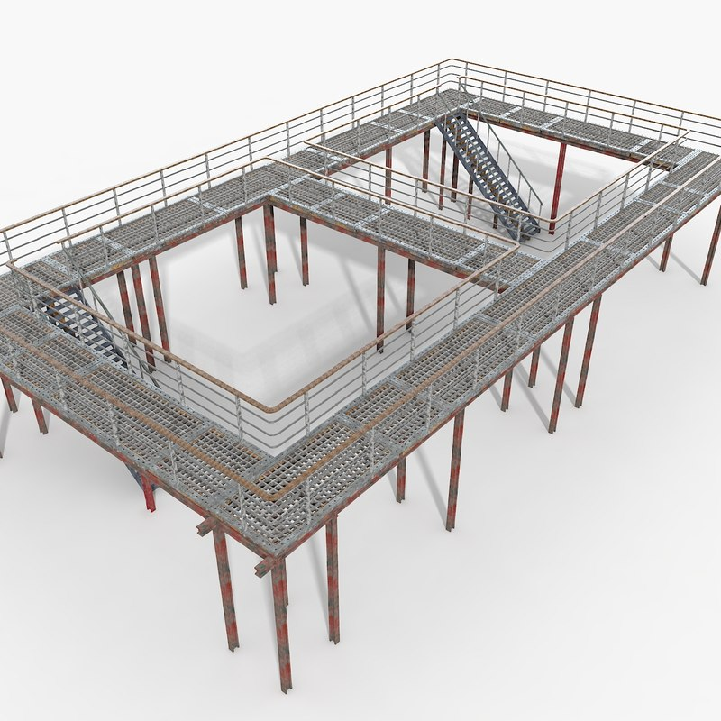 air bridge set 3d model