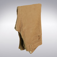 Corduroy Pants In Tan Folded - 3D Scanned