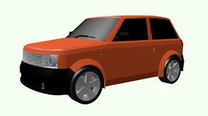 free fbx mode car small