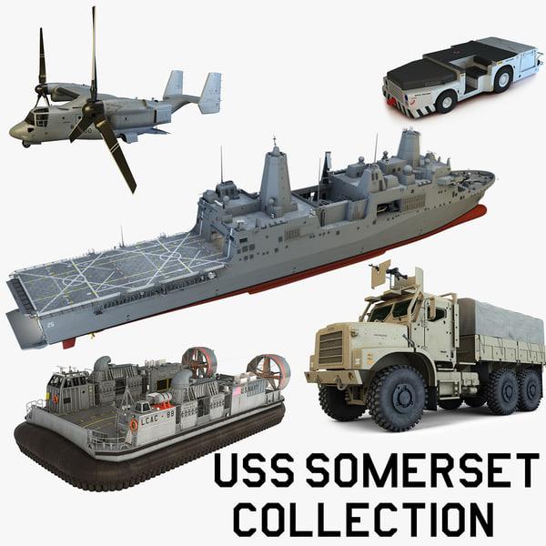 3d model uss somerset
