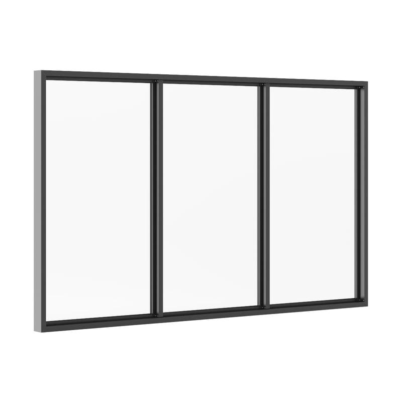 3ds max black metal window 3100mm