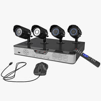 4 CH CCTV Security DVR IR Camera System Kit