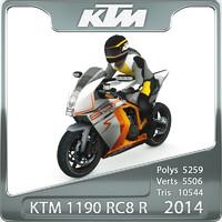 3d model 2014 ktm 1190 rc8