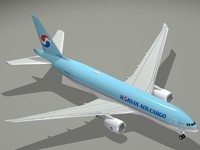 b korean air cargo 3d model