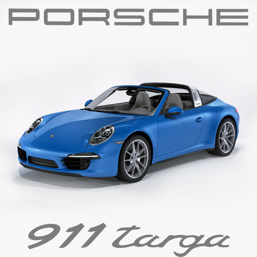 3ds porsche 911 991 targa