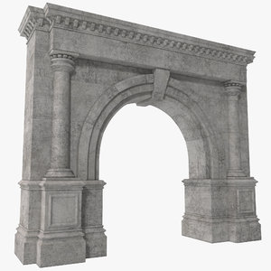 3d architectural arch design