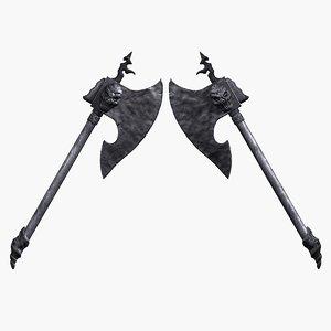 3d model barbarian axe