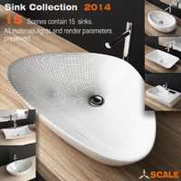 3d porcelain sink